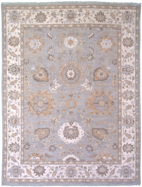 New Pakistan Hand-woven Antique Reproduction of a 19th Century Persian Sultanabad Carpet   7'9