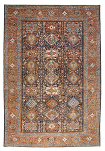 "New Pakistan Hand-knotted Antique Recreation of Persian 19th Century Karajeh   11'10""x 17'4"""