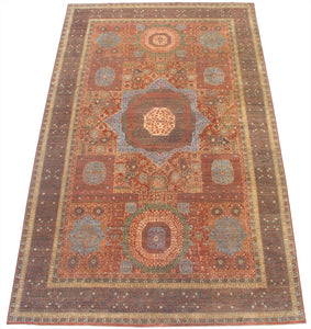 New Pakistan Hand-woven Antique Reproduction of an Egyptian Mamluk Carpet  12'x 20'