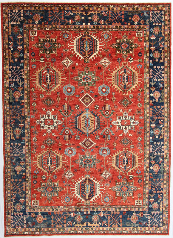 New Afghanistan Hand-Knotted Antique Recreation of a 19th Century Persian Karajeh Design   10'3