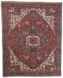 "Antique Persian Serapi Carpet              9'3""x 11'9"""