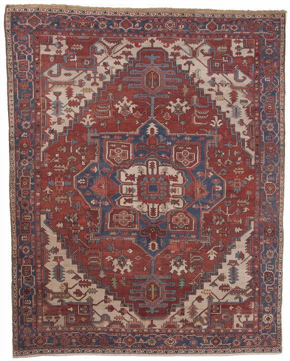 Antique Persian Serapi Carpet              9'3