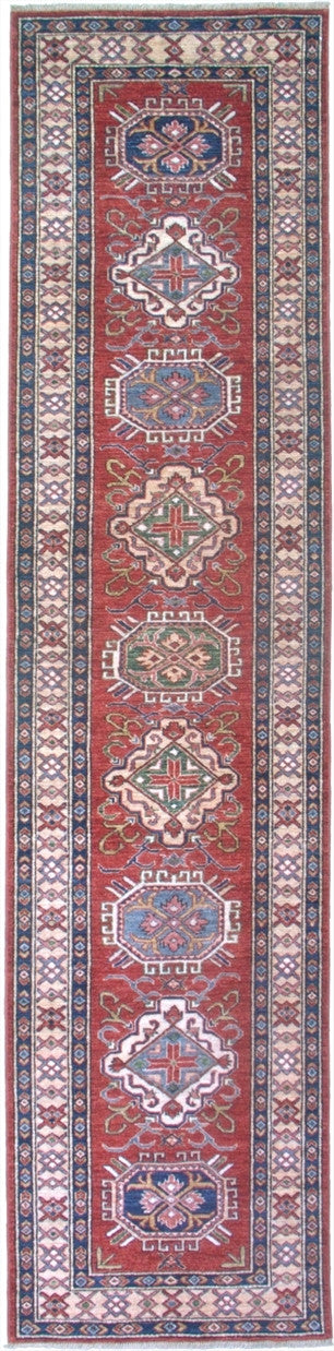 New Pakistan Hand-woven Antique Reproduction of  19th Century Caucasian Kazak Runner     SOLD