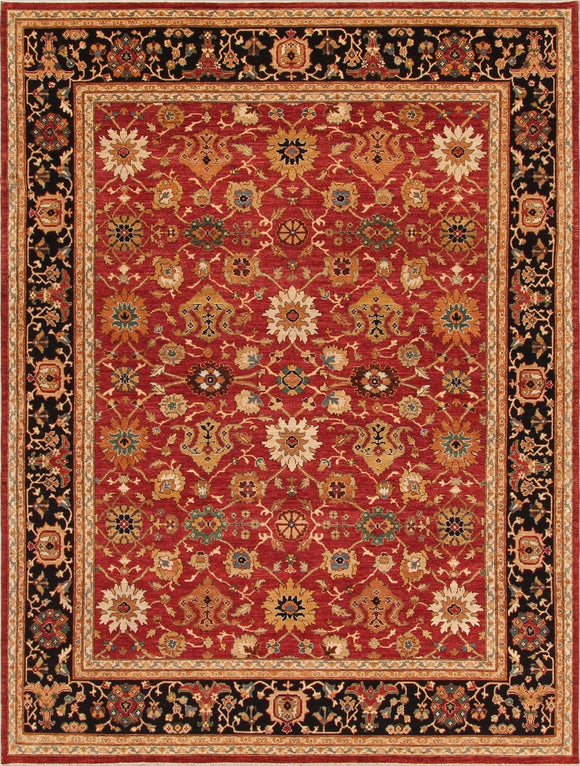 New Pakistan Hand-woven Antique Reproduction of a 19th Century Persian Carpet    11'8