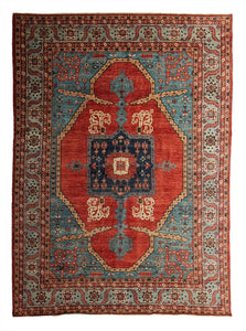New Pakistan Hand-Knotted Antique Recreation of 19th Century Persian Bakhshayish Rug   9'x 12'2""