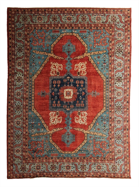 New Pakistan Hand-Knotted Antique Recreation of 19th Century Persian Bakhshayish Rug   9'x 12'2