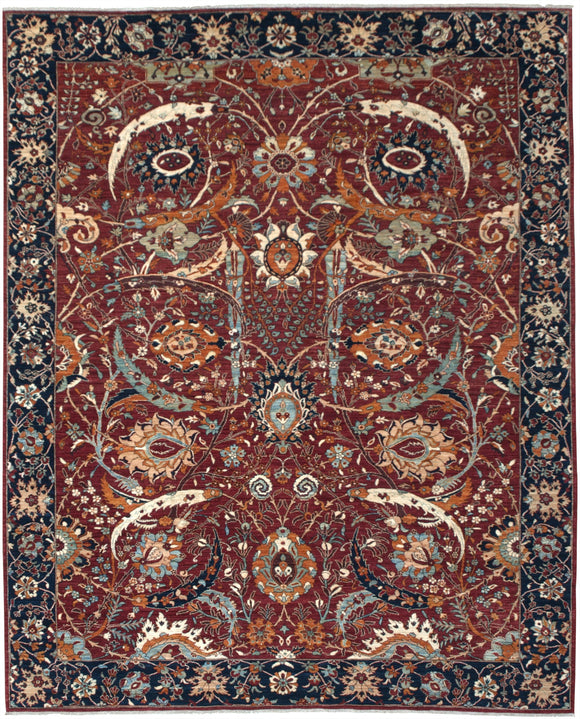 New Pakistan Hand-knotted Antique Recreation of a 17th Century Persian Carpet       8'8