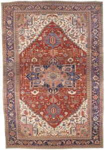 "Antique 1880's Persian Serapi                  16'8""x 23'11"""