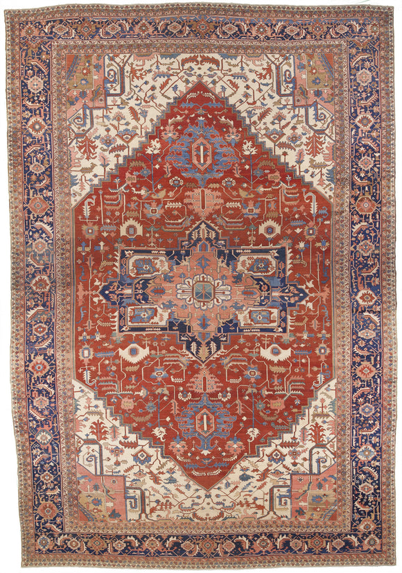 Antique 1880's Persian Serapi                  16'8