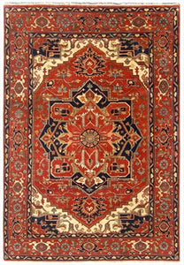New India Hand-knotted Antique Recreation Of Persian Serapi