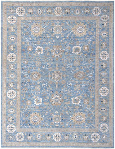 "New Pakistan Hand-Knotted Antique Recreation of 19th Century Persian Tabriz    8'9""x 11'6"""