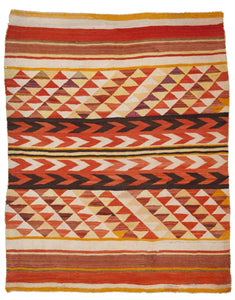 "Antique Transitional Navajo Rug            4'3""x 5'5"""