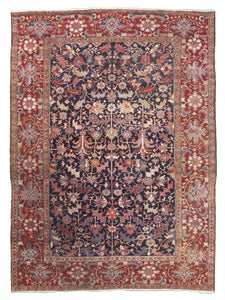 Antique Persian Serapi Carpet            9'x 11'9""