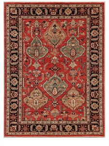 "New Pakistan Hand-woven Antique Reproduction of a 19th Century Persian Village Rug  5'3""x 7'"