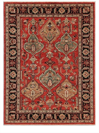 New Pakistan Hand-woven Antique Reproduction of a 19th Century Persian Village Rug  5'3