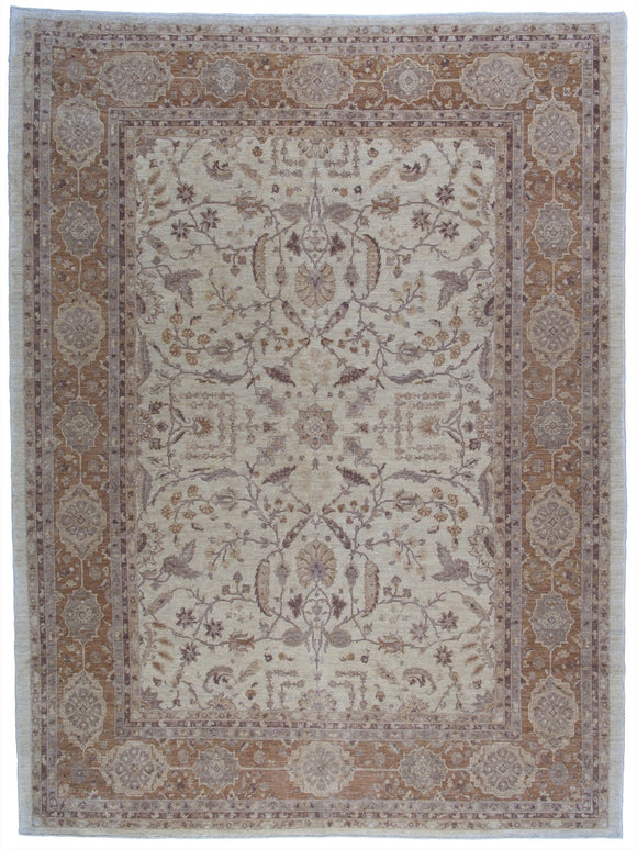 New Pakistan Hand-woven Antique Reproduction of a 19th Century Persian Tabriz Carpet   9'5
