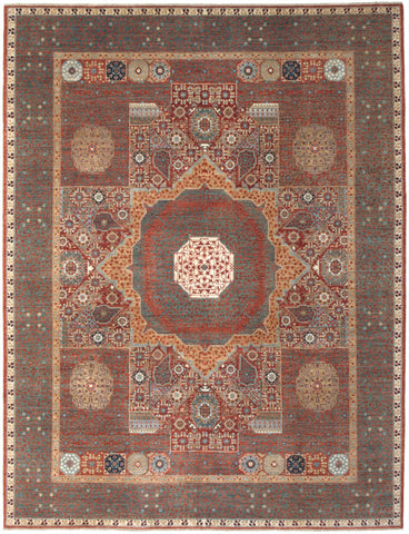 New Hand-Knotted Antique Reproduction of an Egyptian Mamluk Carpet           SOLD