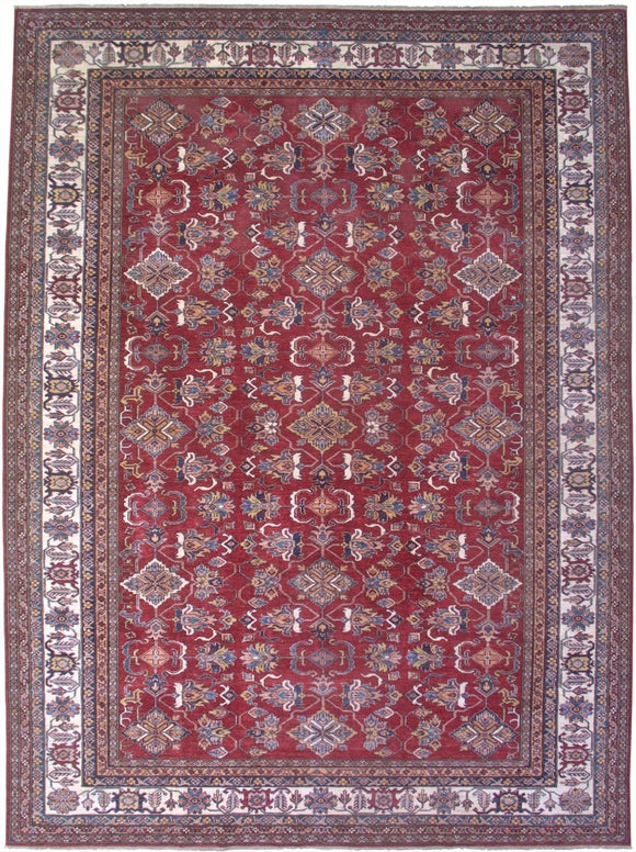 New Pakistan Hand-woven Antique Reproduction of a 19th Century Caucasian Kazak Rug      9'9