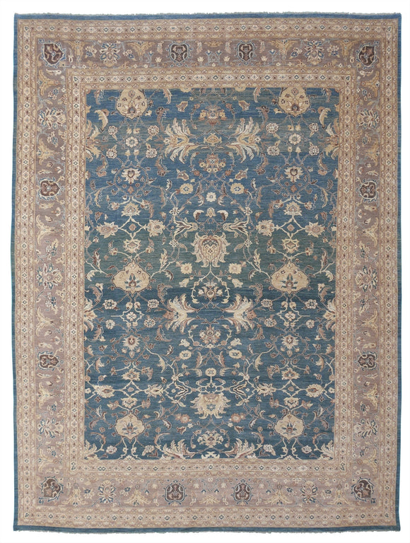 New Pakistan Hand-woven Antique Reproduction of a 19th Century Persian Sultanabad Carpet   14'10