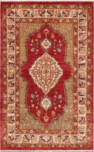 New Pakistan Hand-woven Antique Reproduction of a 19th Century Ferahan Rug     SOLD