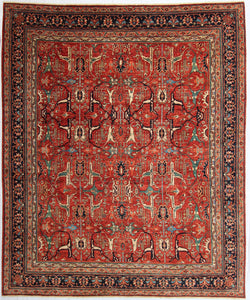 "New Hand-knotted Antique Recreation from Afghanistan. 19th Century Persian Bijar Design.   9'6""x 11'2""  SOLD"