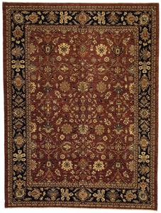 "New Pakistan Hand-woven Antique Reproduction of a 19th Century Persian Carpet    9'1""x 12'2"""