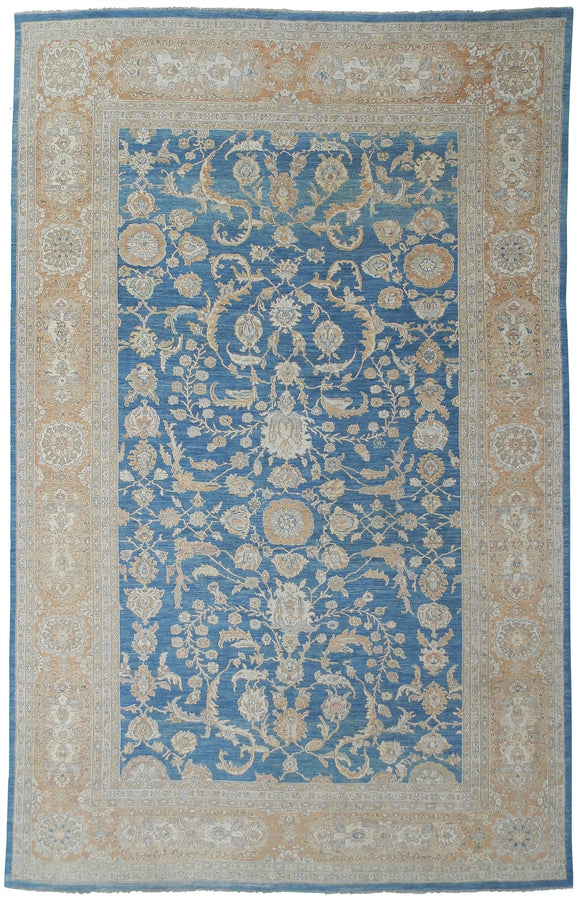 New Pakistan Hand-woven Antique Reproduction of a 19th Century Persian Sultanabad Carpet   11'7