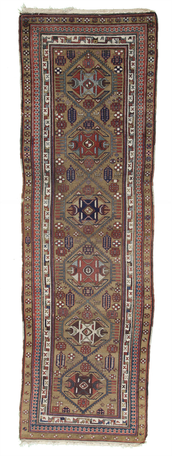 Antique Persian Serab Runner Rug         3'8