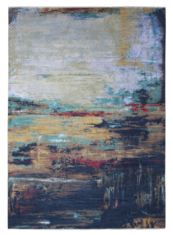 New Pakistan Hand-Knotted Modern Abstract Contemporary Carpet  10'x 14'1""
