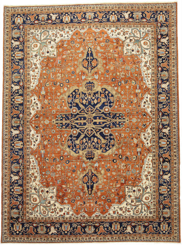 "New Afghanistan Hand-Knotted Antique Recreation of 19th Century Persian Ferahan   10'3""x 13'11"""