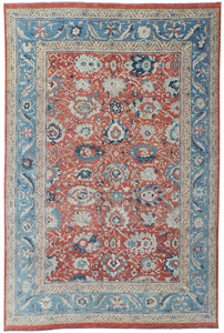 "New Pakistan Hand-woven Antique Reproduction of a 19th Century Persian Sultanabad Carpet  13'5""x 20'8"""