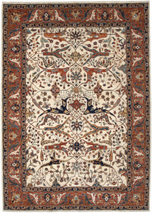"New Pakistan Hand-woven Antique Reproduction of a 19th Century Persian Garrus Bijar Rug   8'7""x 11'9"""