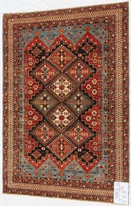 New Hand-Knotted Afghanistan Antique Recreation of Old Persian Tribal Rug   SOLD