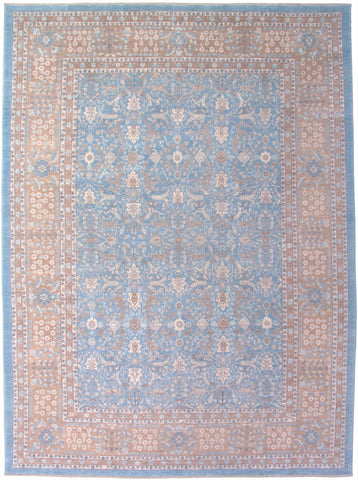 New Pakistan Hand Knotted Antique Reproduction of a 19th Century Persian Tabriz Carpet  10'x 14'