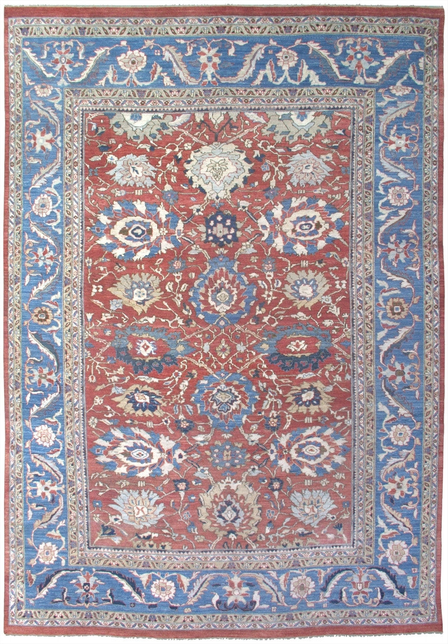 New Pakistan Hand-woven Antique Reproduction of a 19th Century Persian Sultanabad Carpet   SOLD