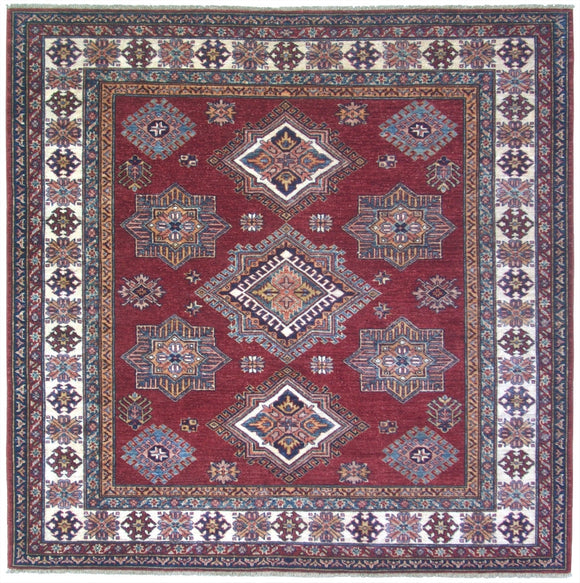 New Pakistan Hand-woven Antique Reproduction of a 19th Century Caucasian Kazak Rug   6'2