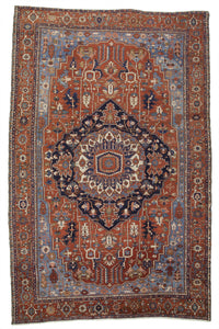 "Antique Persian Serapi Carpet                   11'9""x 18'2"""