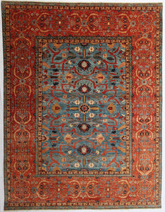 "New Pakistan Hand-Knotted Antique Recreation of a Persian Sultanabad Design   9'x 11'9""      SOLD"