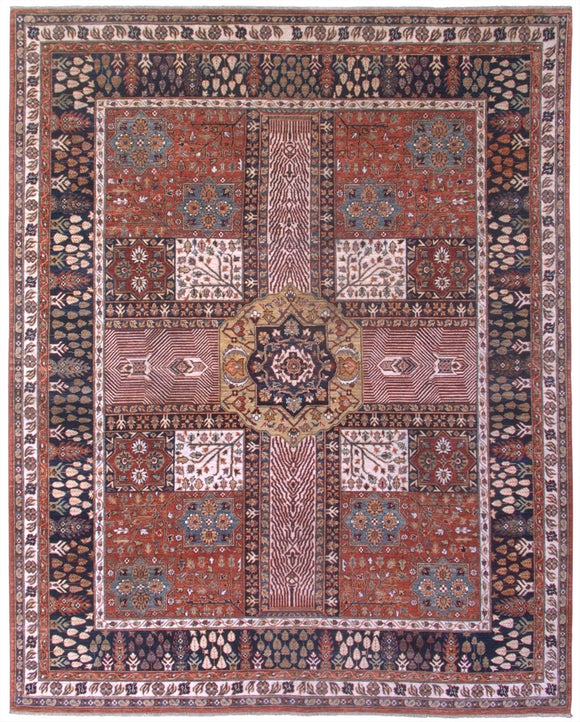 New Pakistan Hand-woven Antique Reproduction of an 18th Century Persian Garden Carpet