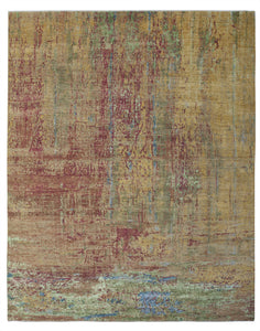 New Pakistan Hand-Knotted Modern Abstract Contemporary Carpet  12'x 14'8""