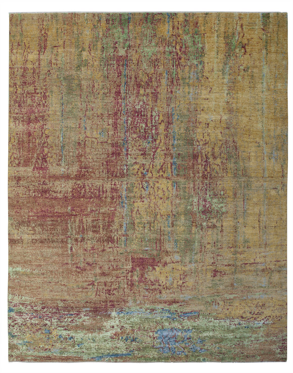 New Pakistan Hand-Knotted Modern Abstract Contemporary Carpet  12'x 14'8