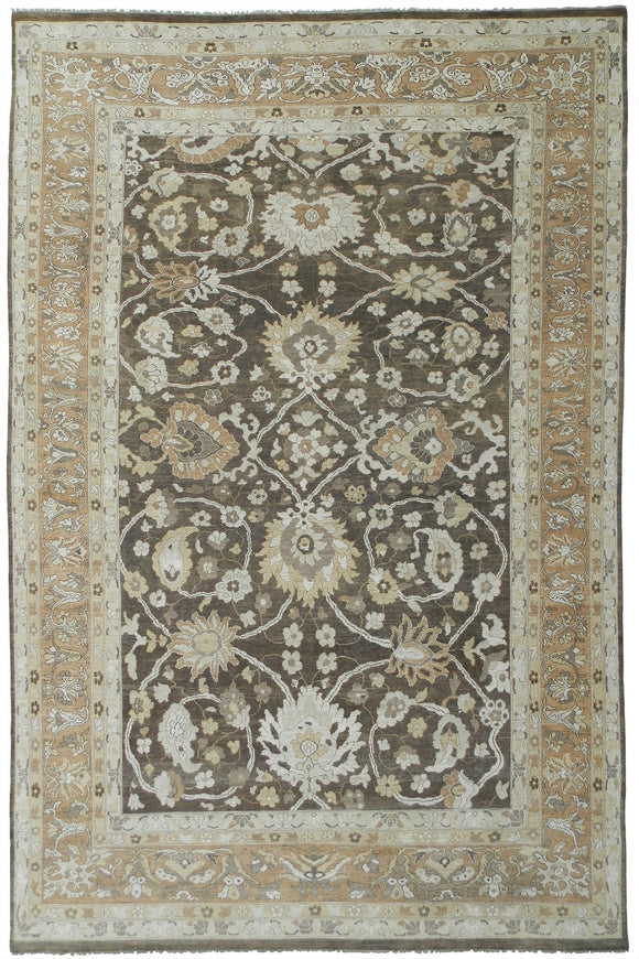 New Pakistan Hand-woven Antique Reproduction of a 19th Century Persian Sultanabad Carpet  11'10