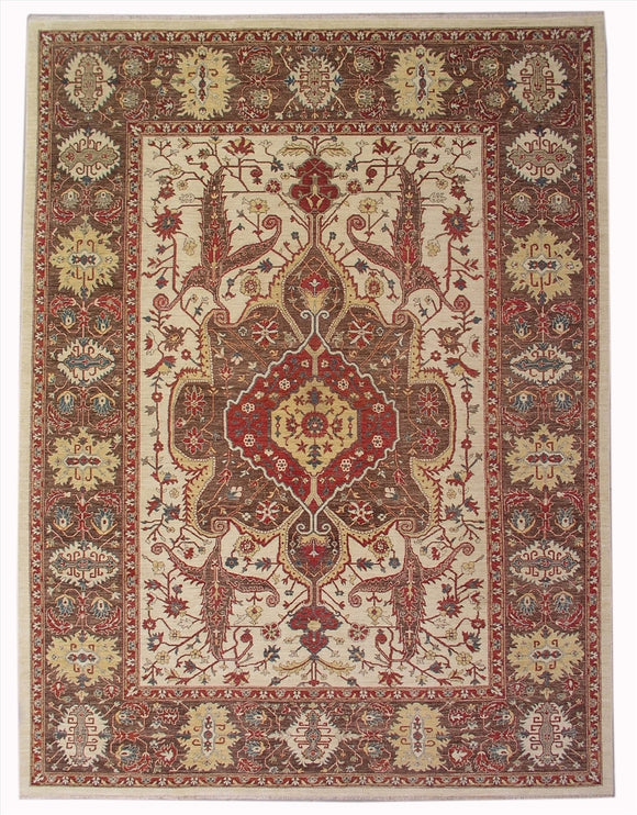New Pakistan Hand-woven Antique Reproduction of a Persian 19th Century Bakhshayish Carpet