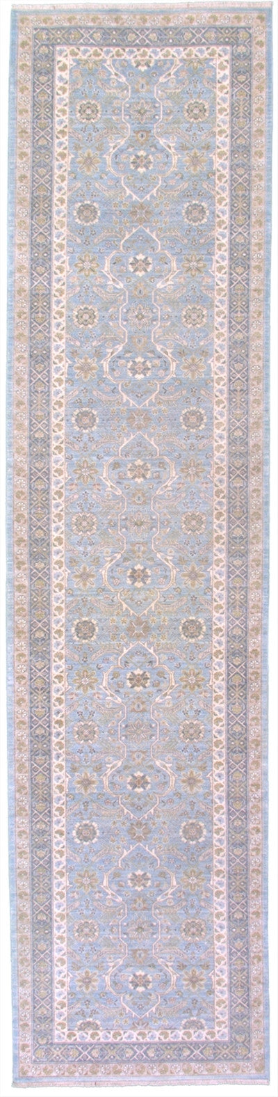 New Pakistan Hand Knotted Antique Reproduction of a 19th Century Persian Tabriz Carpet Runner  2'8