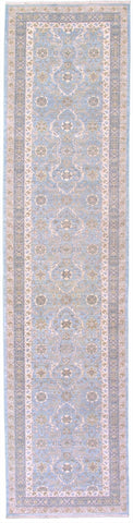 "New Pakistan Hand Knotted Antique Reproduction of a 19th Century Persian Tabriz Carpet Runner  2'8""x 11'6"""