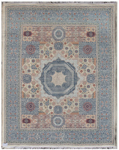 "New Afghanistan Hand-Knotted Antique Recreation of 16th Century Mamluk Design     7'10""x 9'9"""