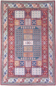 New Afghanistan Hand-woven Antique Reproduction of Kazak Rug   SOLD