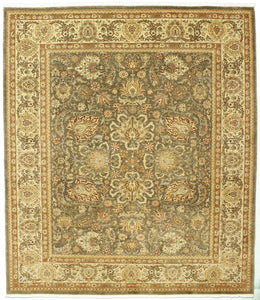 "New Pakistan Hand-woven Antique Reproduction of a 19th Century Persian Tabriz Carpet  8'2""x 9'4"""