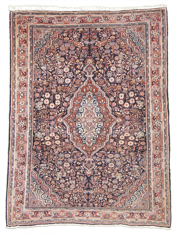 Antique Persian Jozan Sarouk Rug