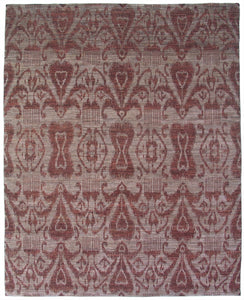 "New Pakistan Hand-woven Antique Reproduction of 19th Century Ikat Textile Carpet    8'2""x 10'1"""